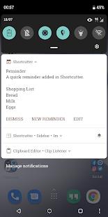 Atajo: configuración rápida, atajos y widgets Captura de pantalla