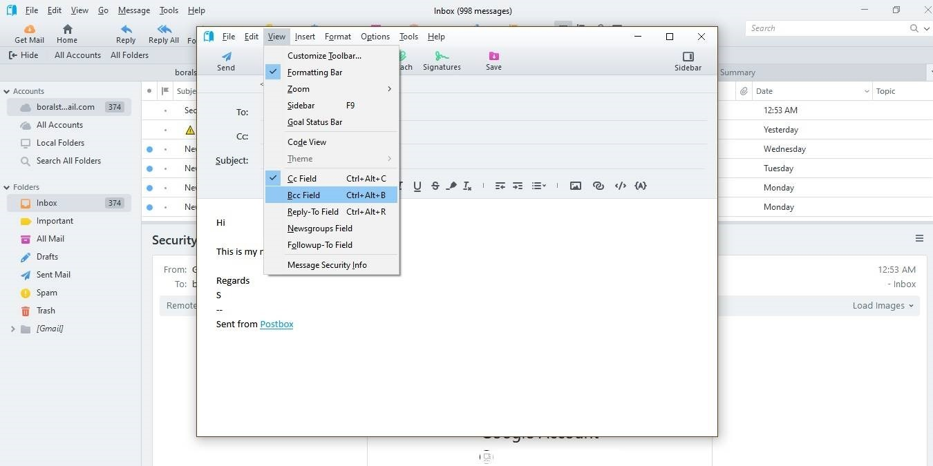 Administre múltiples correos electrónicos e integraciones con el cliente de buzón