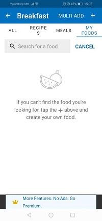 como agregar comida
