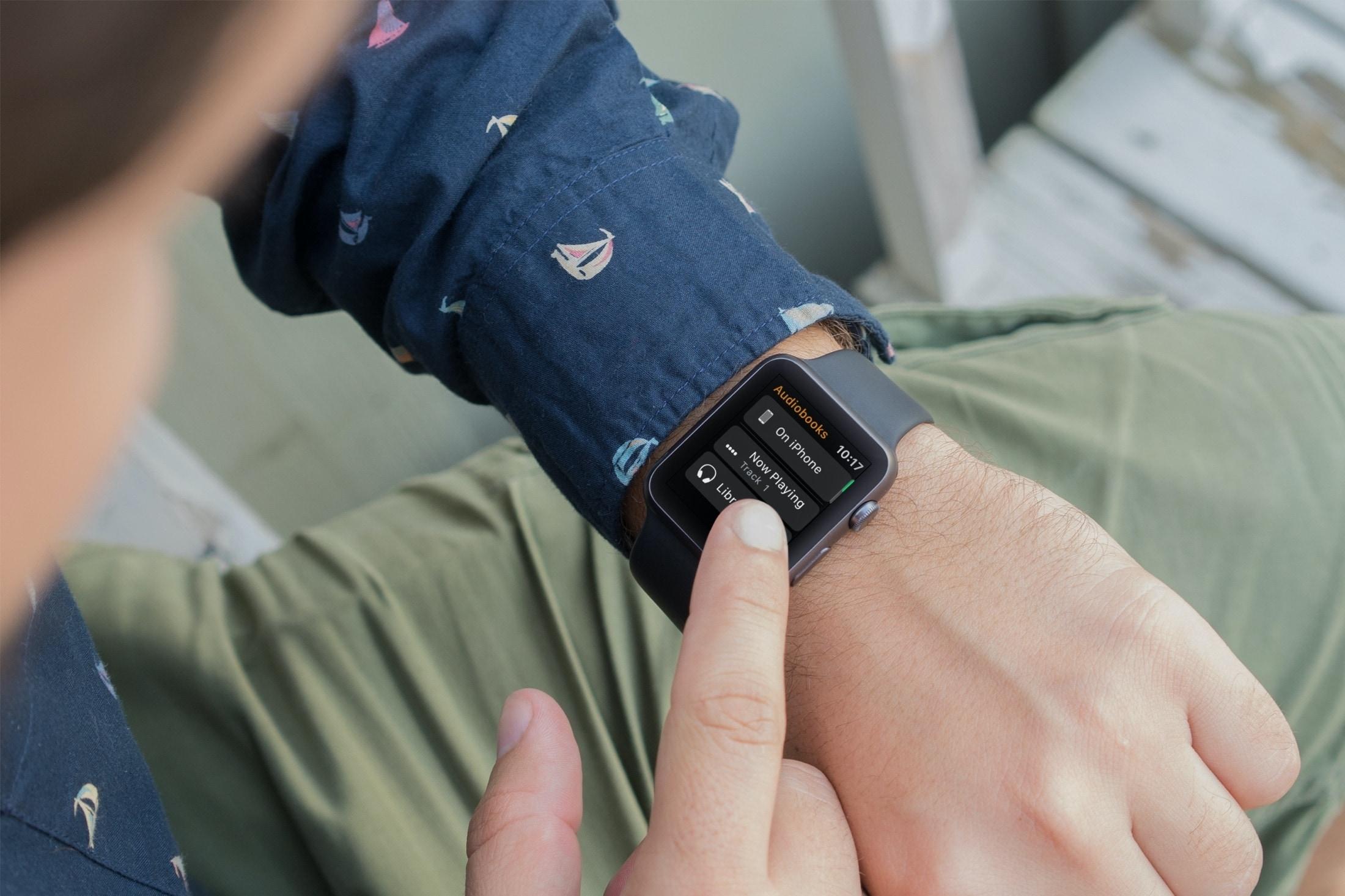 Aplicación de audiolibros Apple Watch