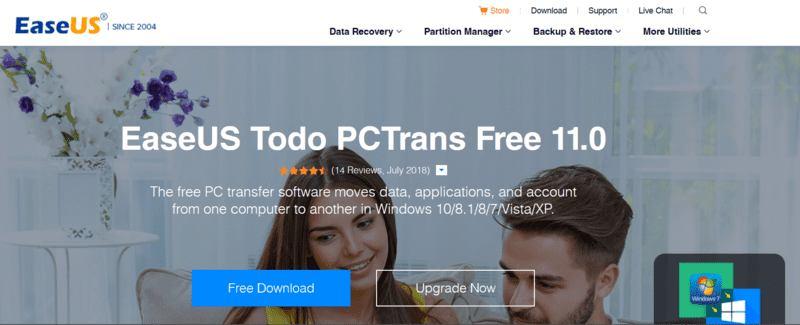 Mover Windows Programa Easeus Pctrans Web