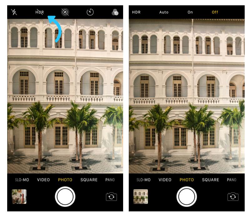 Instagram    Fotos: configuración de iPhone HDR