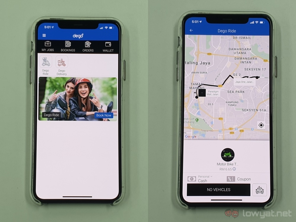 Dego app inicio + tarifa