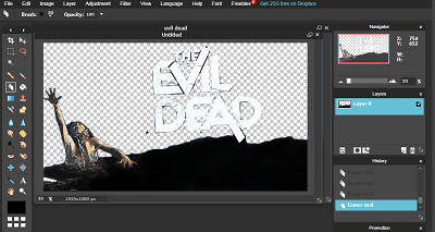 Cómo eliminar fondo en la herramienta de borrador Pixlr Editor