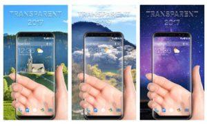 mejores aplicaciones de pantalla transparente para Android / iPhone