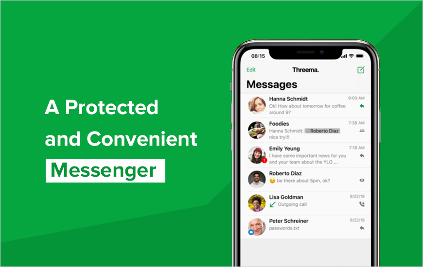 Threema: Secreto Messenger Que prioriza la seguridad