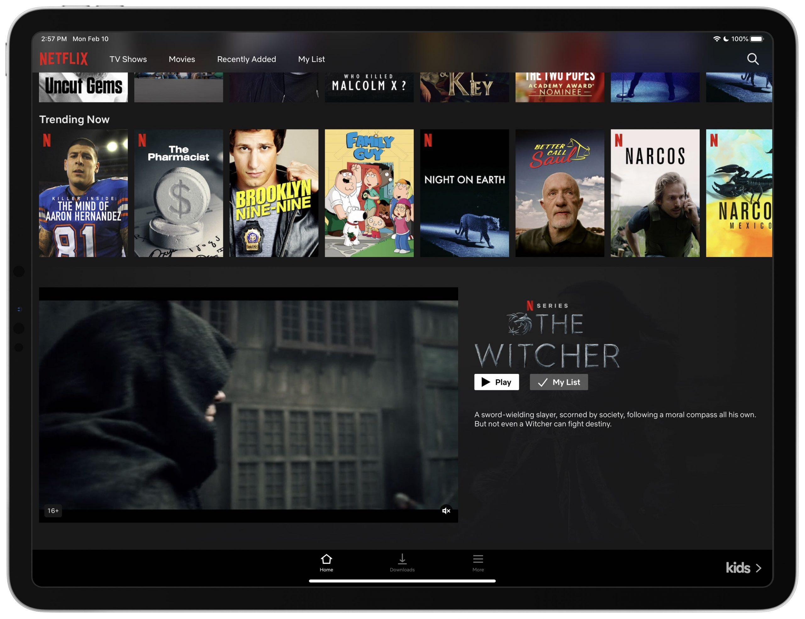 Configuración de vista previa para la reproducción automática de Netflix