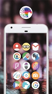 Pix Up - Round Icon Pack Captura de pantalla