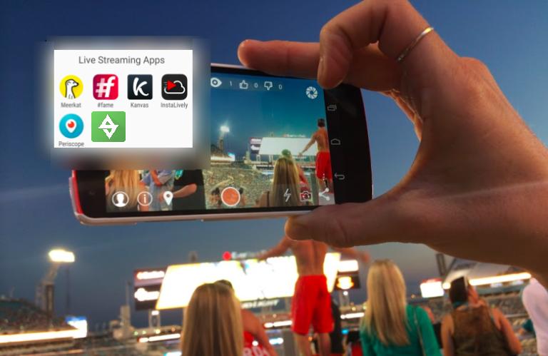 Live Streaming-appar