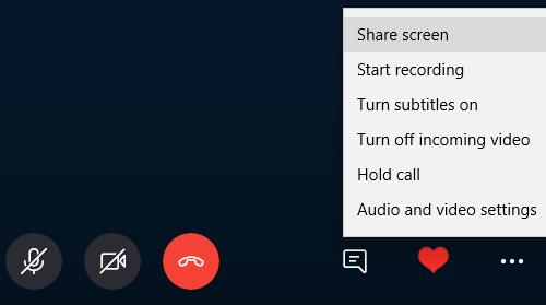 Skype: Dela datorskärm - Tekniker 2