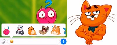 Telegram crea pegatinas animadas