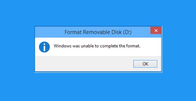 Tutorial Cómo superar Windows El formato no se pudo completar
