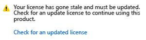 Actualizar la licencia de Visual Studio