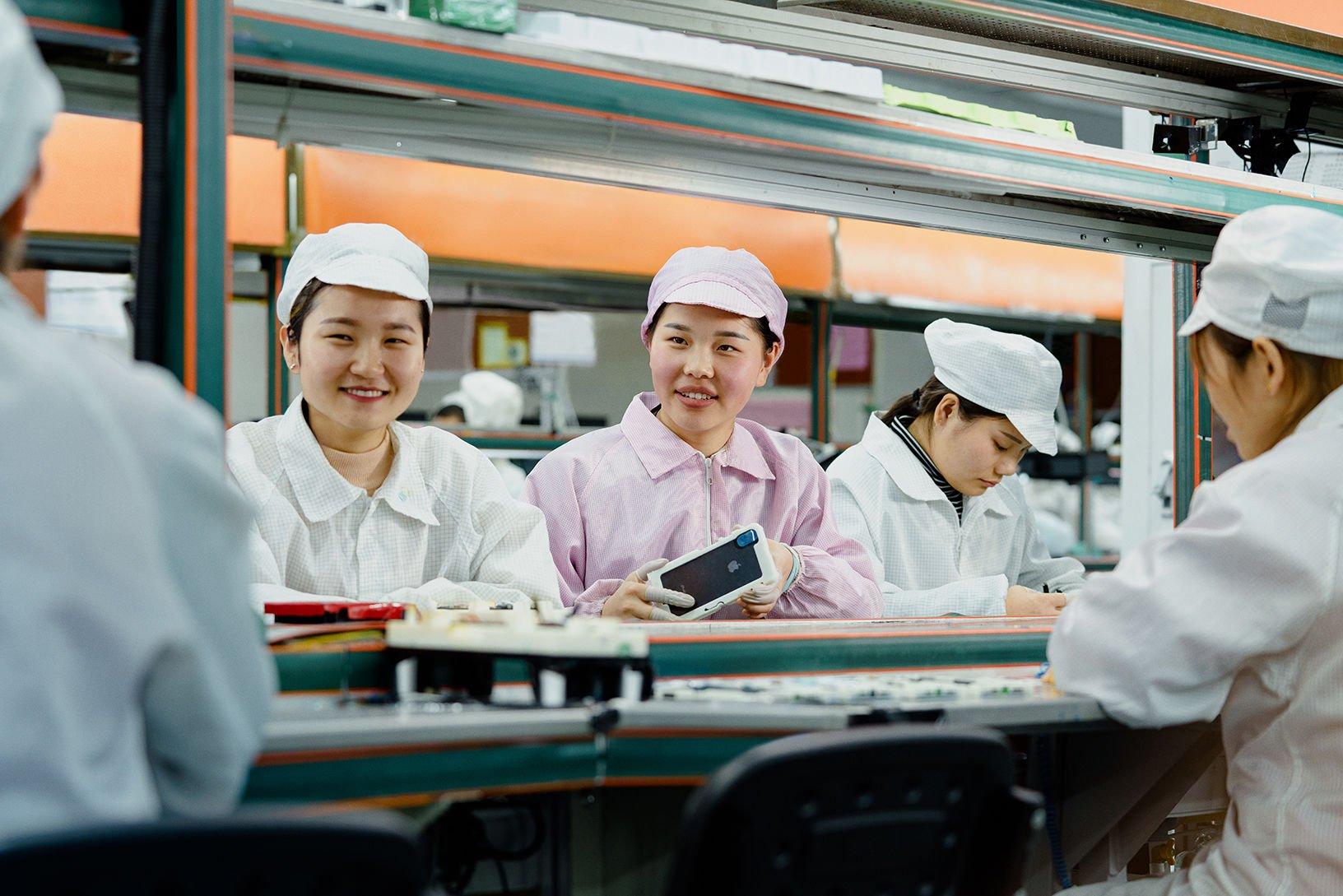 Apple    Línea de producción de fábrica