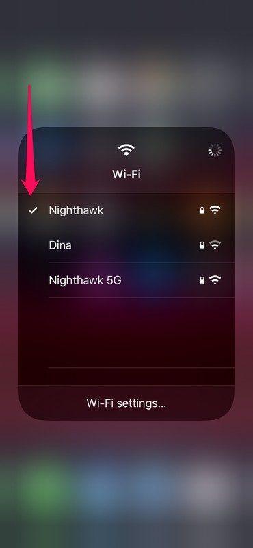 Cómo Switch Wi-Fi desde el Centro de control en iPhone