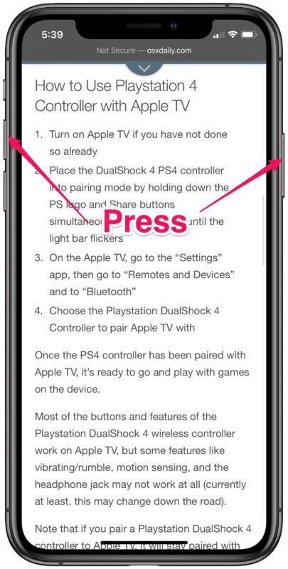 Cómo tomar capturas de pantalla de página completa en Safari