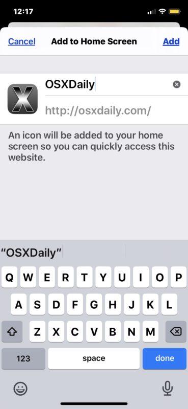 Cómo agregar un sitio web a la pantalla de inicio de iPhone y iPad