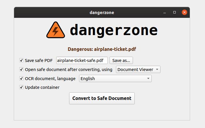 ¿Cómo convierto archivos PDF, documentos e imágenes potencialmente peligrosos en archivos seguros?