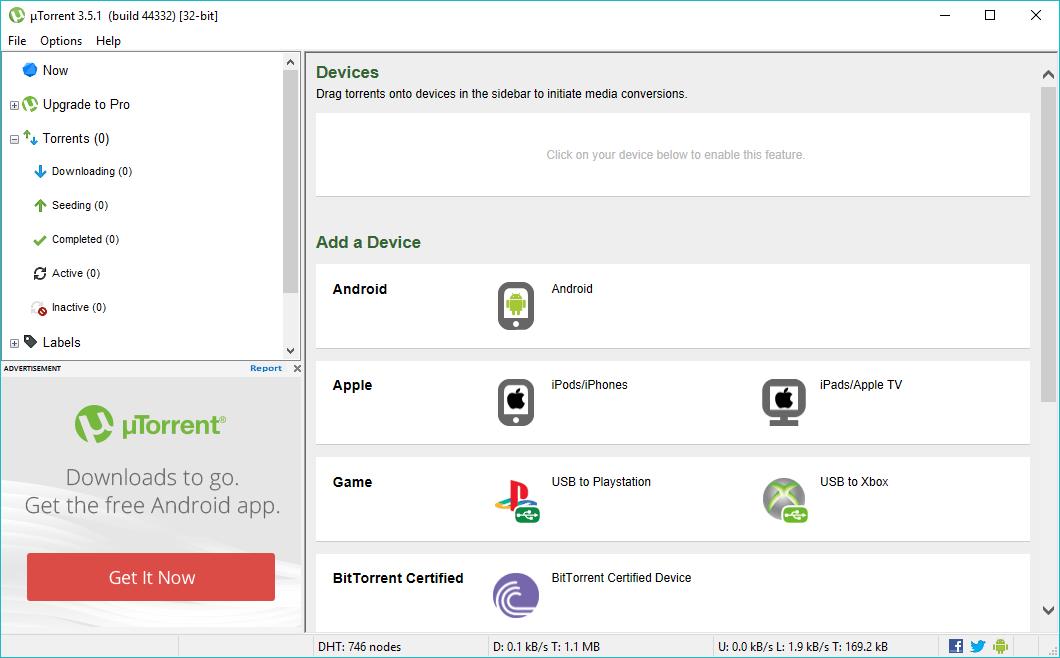 Meilleur client torrent Windows 5    utorrent