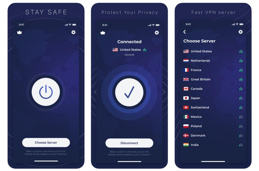 qoruma-vpn-app ekranı