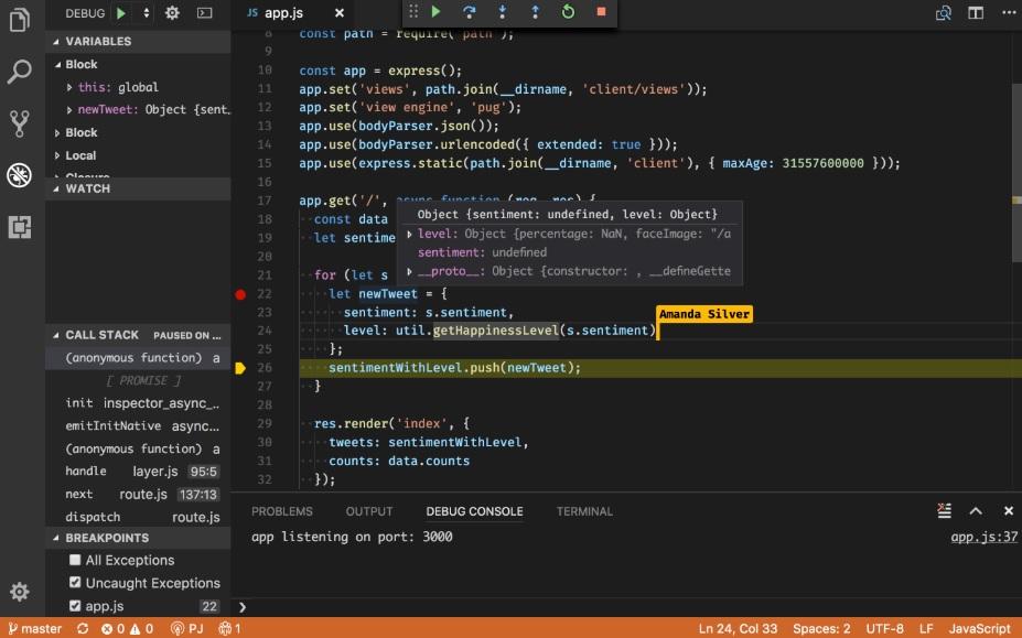 vs code share canlı