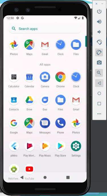 Android virtual cihaz