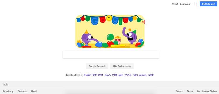 pirat interfeysi google axtarışı