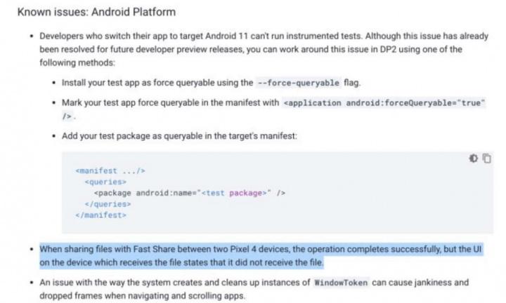 androide 11 comparte archivos de Google AirDrop