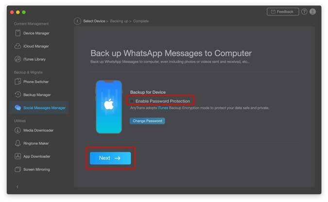 También haga una copia de seguridad de WhatsApp con esta herramienta
