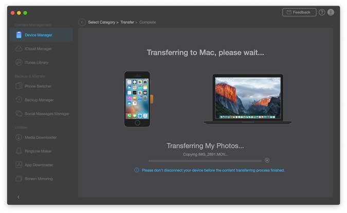 transferir datos de iphone a mac