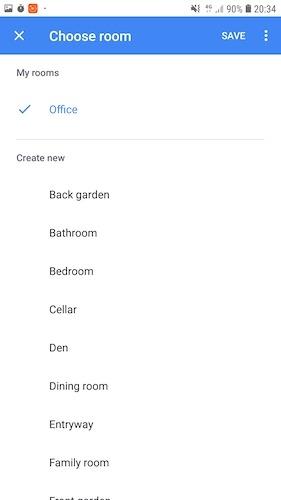 Considere agrupar dispositivos inteligentes en habitaciones para una automatización del hogar más eficiente.