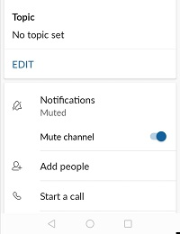 notificaciones flojas pospuestas