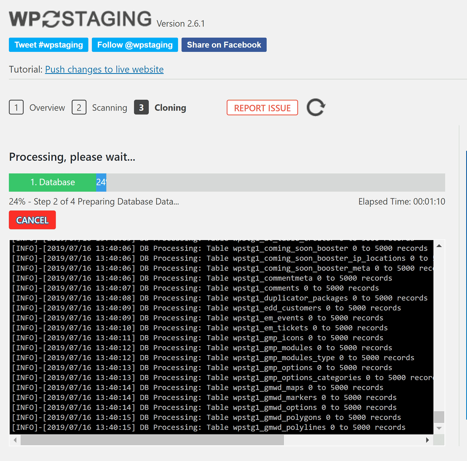 WP Staging Cloning