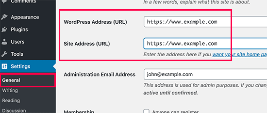Configuración de URL de WordPress