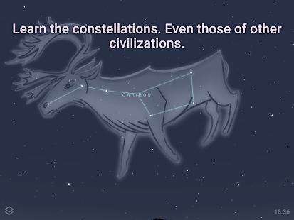 Stellarium Mobile PLUS - Pantalla de mapa estelar
