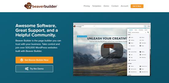 Beaver Builder, el mejor complemento generador de páginas de WordPress