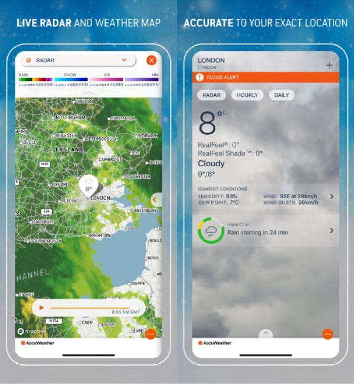 Las mejores aplicaciones meteorológicas gratuitas para iPhone