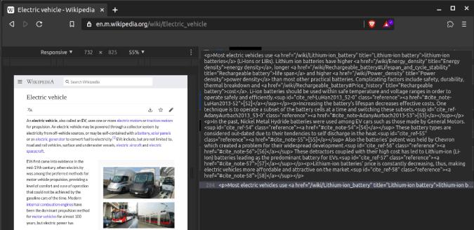 de resultados de búsqueda de encontrar-se alternan a inspeccionar elemento de código