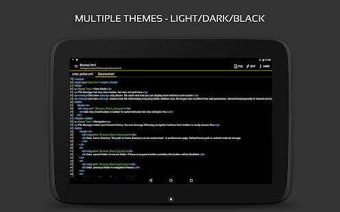 QuickEdit Text Editor Pro: captura de pantalla de Writer & Code Editor