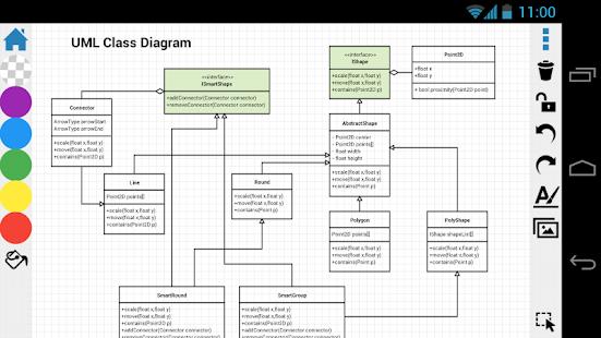 Captura de pantalla del diagrama de DrawExpress