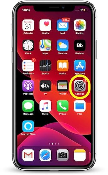 En su iPhone, abra la aplicación Configuración