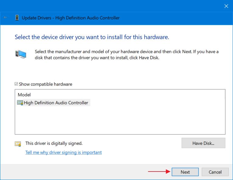 Paso B: cómo superarlo No hay ningún dispositivo de salida de audio instalado 6