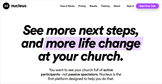 Creador de sitios web de Nucleus Church
