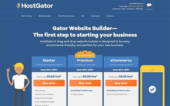 Creador de sitios web Gator