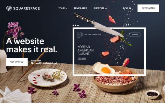 Creador de sitios web de Squarespace