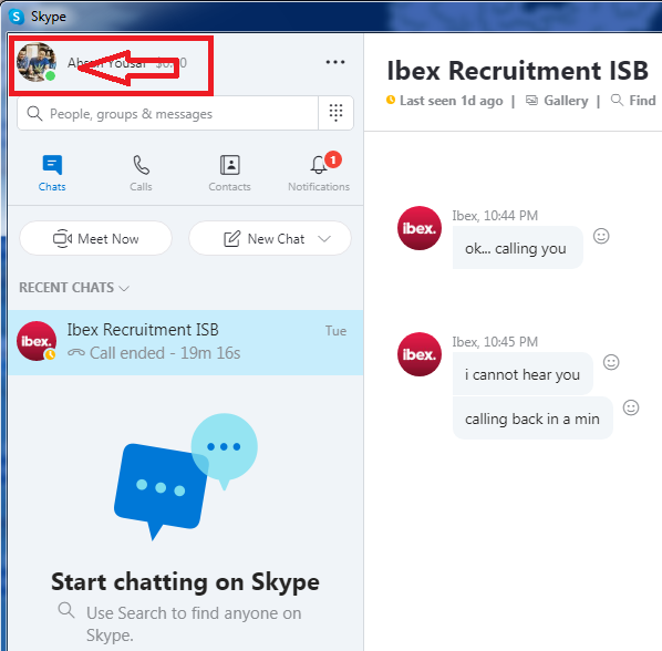 xóa bước của tài khoản skype của bạn 2