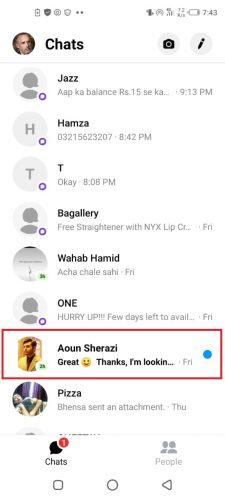Nachrichten Ignorieren Messenger