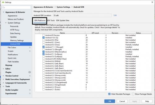 Android Studio üçün Sdk Alətlərini necə yükləmək olar 4
