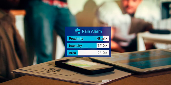 Rain alarm, receive alerts when it rains in your area with this application 1