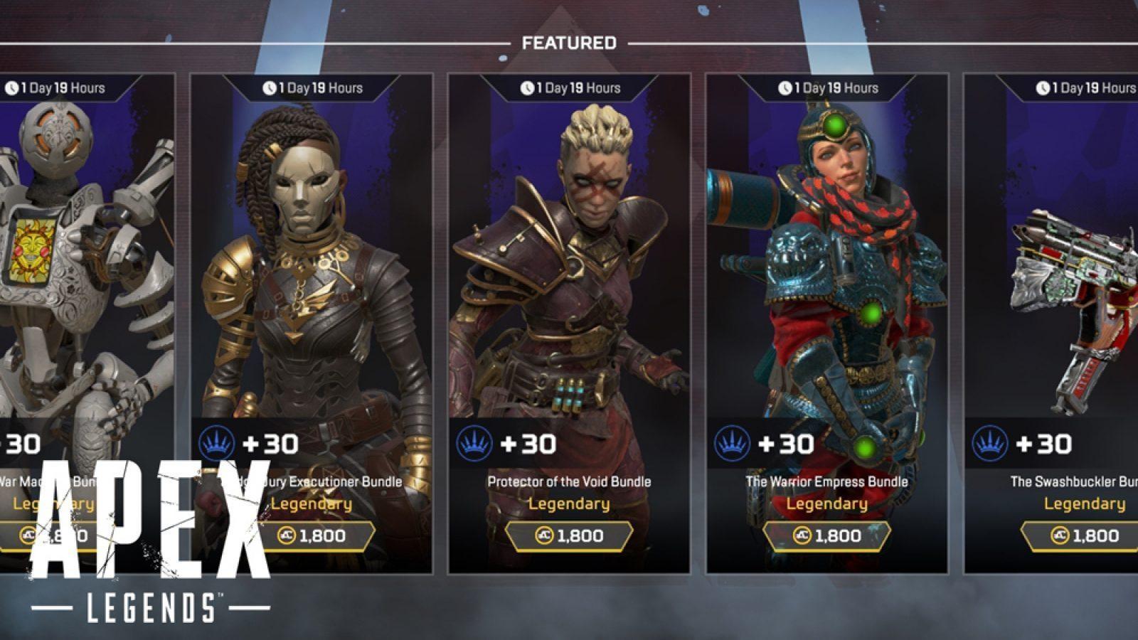 Apex Legends voi tarjota pelaajille lisää tuotteita …